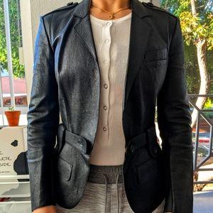 Blueberry genuine leather jacket